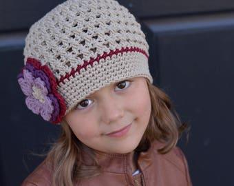 Crochet Hat Girls, Crochet Little Girl Hat, Toddler Girl Hat, Crochet Beanie, Crochet Kids Hats, Little Girl Hat, Winter Hat, Hats
