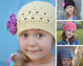 Pattern Crochet Hat, Crochet Pattern, Crochet Pattern for Children, Crochet Hats for Girls, Crochet Patterns, Criss Cross Beanie #103