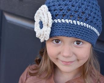 Crochet Hat for Girls, Crochet Little Girl Hat, Crochet Beanie, Crochet Kids Hats, Little Girl Hat, Winter Hat, Children, Teen, Adult