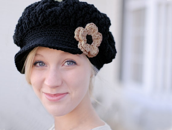 Mützen Sie für Frauen schwarzen Hut für Frauen Frauen | Etsy