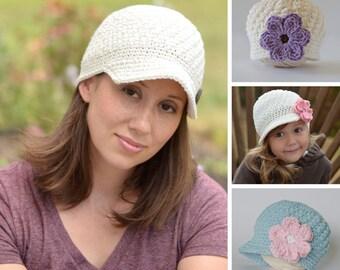 """Women's Hat Pattern, Crochet Pattern, Women's Crochet Hat Pattern, Crochet Pattern for Women, """"Textured Sunshine Beanie"""" PDF pattern #109"""