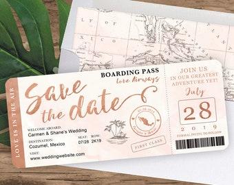 Boarding Pass Wedding Invitation Etsy