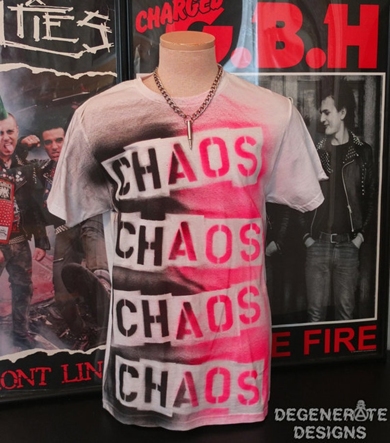 CHAOS Punk Punk T Shirt Punk T-shirt Punk Rock Shirt Top 77 image 0