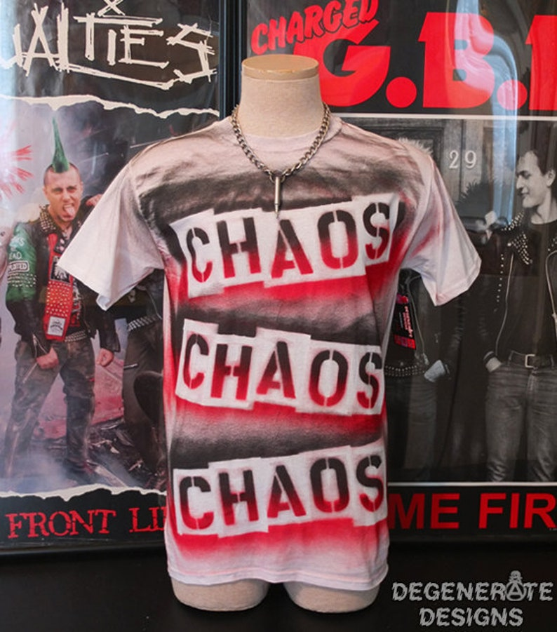 CHAOS Punk Punk T Shirt Punk T-shirt Punk Rock Shirt Top 77 image 0