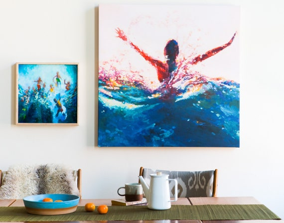 canvas art print custom sized home decor of any painting by