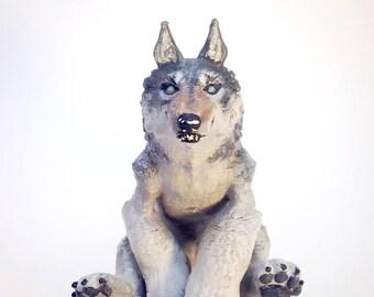 Made To Order 3D Printed Werewolf, Werewolf Figurine, Custom Painted, Glowing Eyes