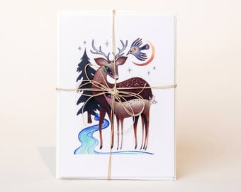 Winter Greeting Cards - assorted set of 3
