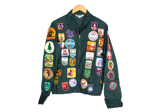 Vintage 1970's Jacket with Patches