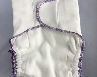 Flower Child Prefold to Fitted Diaper Conversion