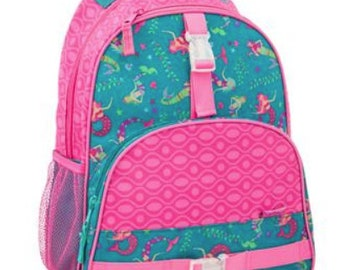 378d370e64 Personalized Girls MERMAID Backpack- Preschool Backpack MERMAID Backpack  Stephen Joseph Backpack