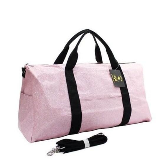 Personalized 21 Duffel Bag Glitter Duffel Bag Pink  cae594d4ac21c