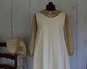 Prairie Outfit, size 10-12, girls, Emma, Old West, Frontier 1870's to 1890's