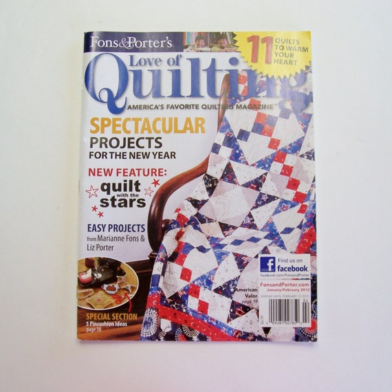 Quilting Magazine 12 Price Sale Fons And Porters Love Etsy