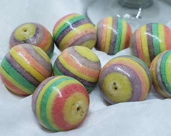 Rainbow Apple coral Beads