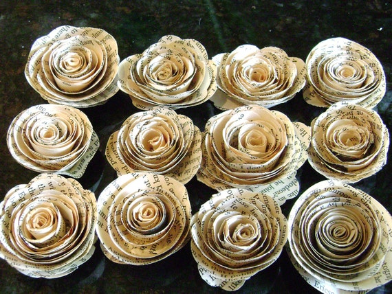 1 tiny spiral paper flower roses flat back no stems made etsy image 0 mightylinksfo