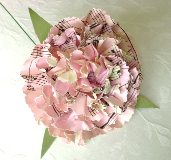 Book page paper flower pink carnation can be jane austen etsy image 0 mightylinksfo