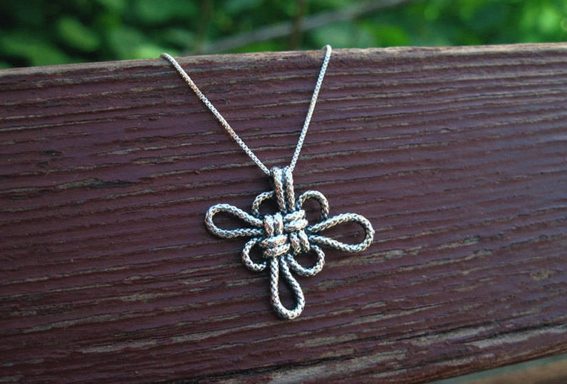 Promise Rope sterling silver bridesmaid Birthday Gift For Her Infinity knot jewelry Knot nature celtic jewelry valentine/'s gift