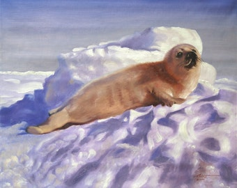 Seal 11 x 17 print (image 10.5 x 13) by artist RUSTY RUST / S-64-P