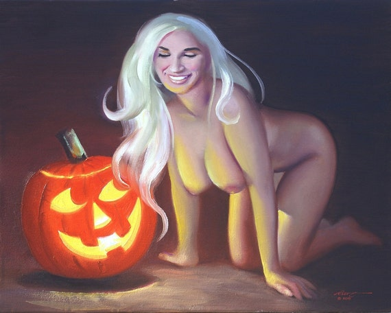 Nude halloween girls