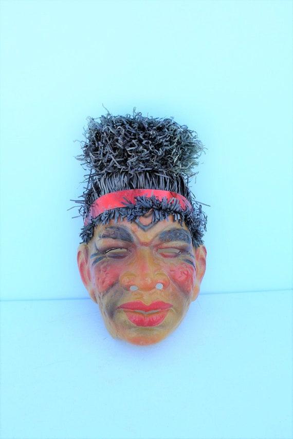 Vintage Zulu Tiki Tribal Polynesian African Plasti