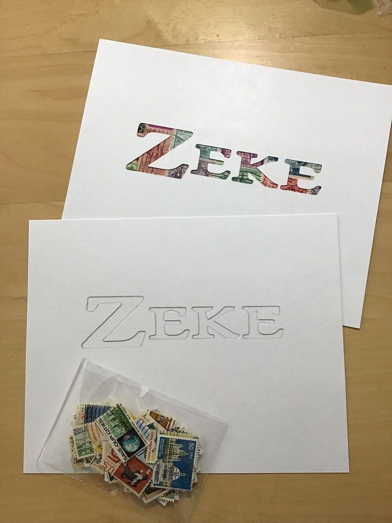 ZEKE Personalized Postage Stamp Art Kit