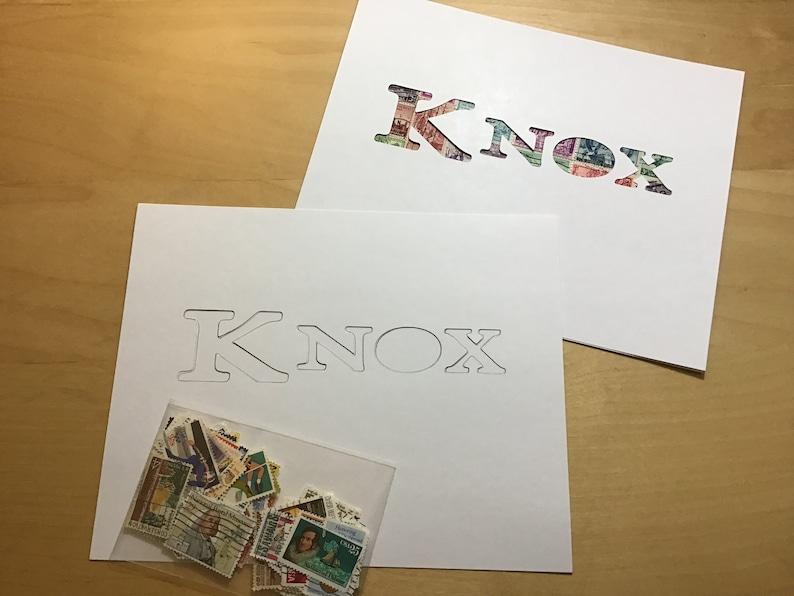 KNOX Personalized Postage Stamp Art Kit