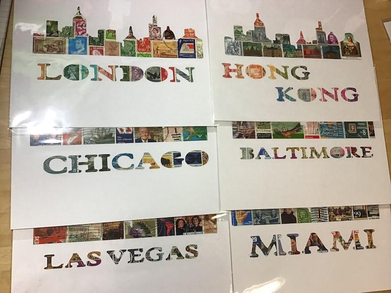 Cupcake Postage Stamp Art Kit