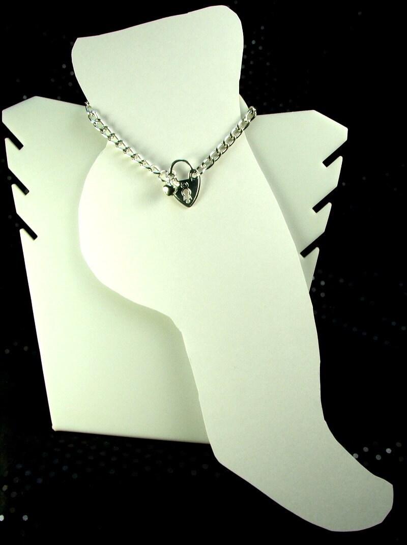 Discreet BDSM Anklet Heart Shaped Lock Charm and Tiny Slave Bell Bondage BDSM Ankle Bracelet - product images  of