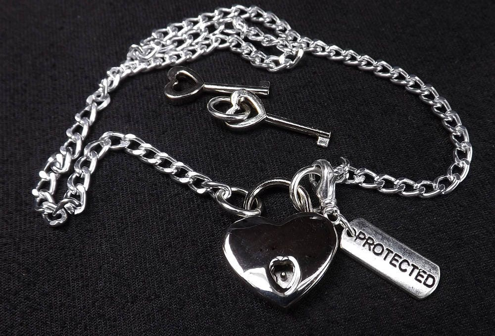 Protected and Locked Submissive Jewelry ddlg bdsm locking necklace - product image