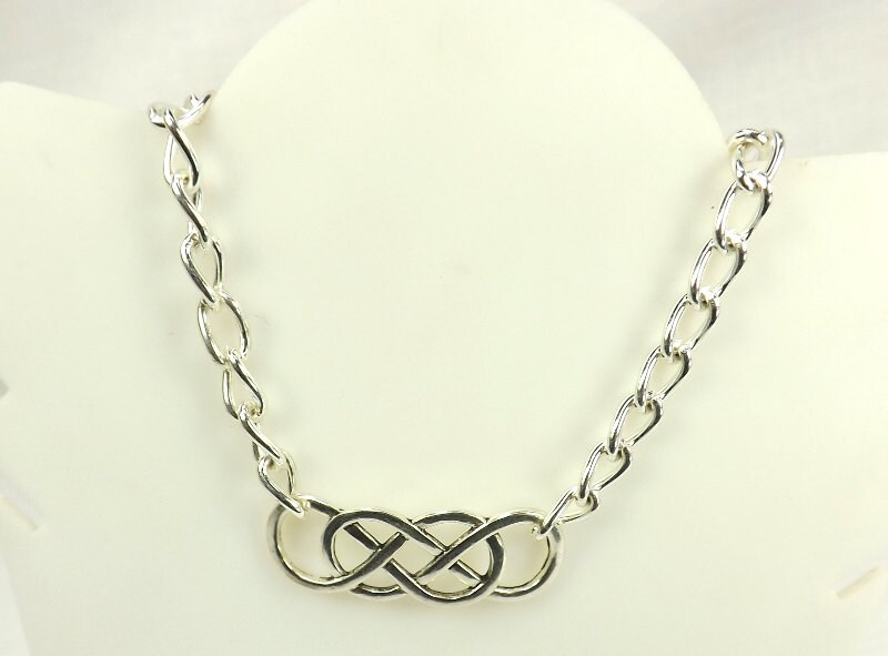 Double Infinity Chain day Collar discreet bdsm day collar day submissive day collar - product image