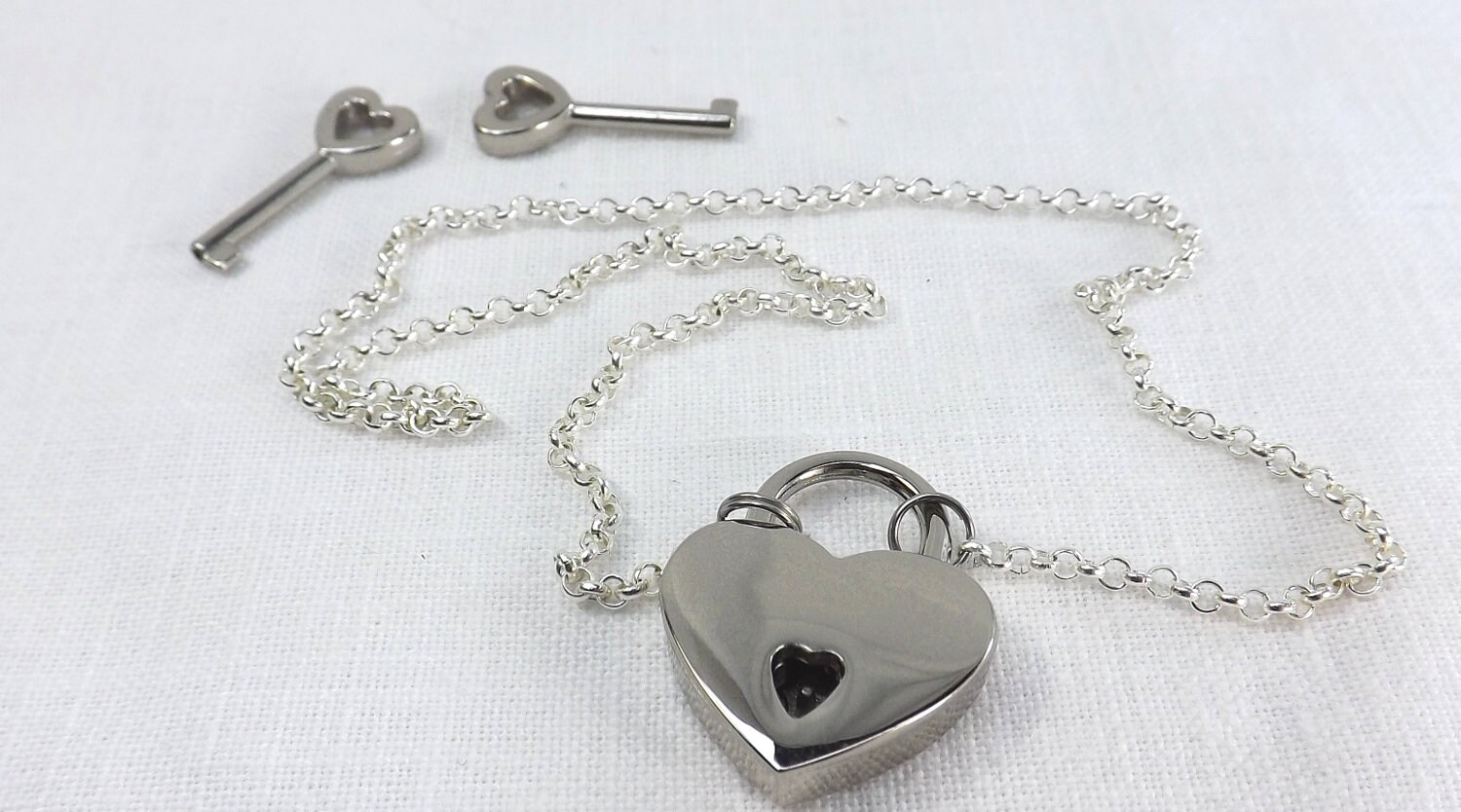 discreet day collar submissive collar heart lock slave collar submissive jewelry lock and chain choker - product images  of