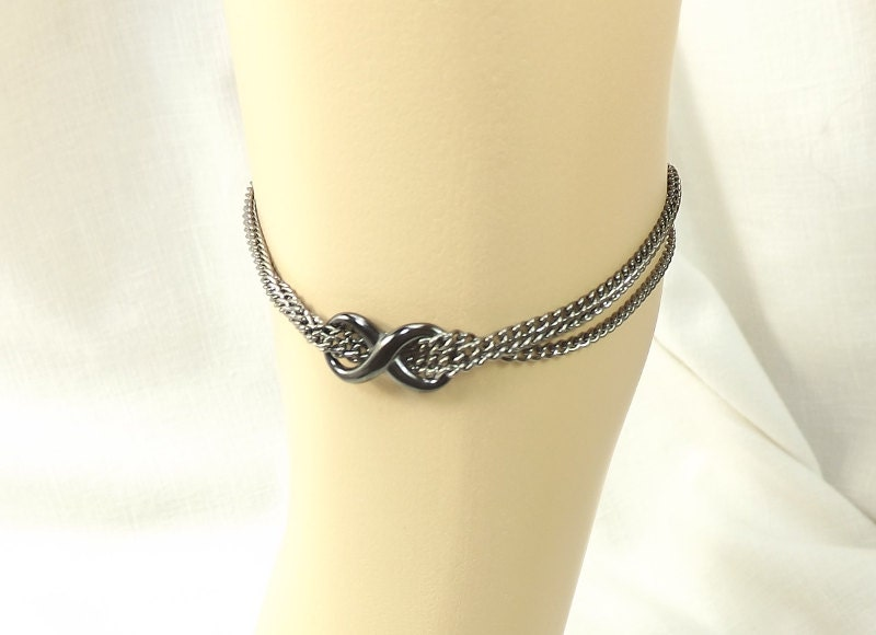 Infinity Ankle Bracelet Multi Chain Anklet body jewelry Infinty Anklet bdsm gift - product image