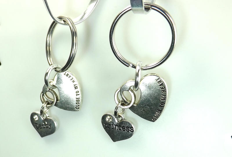 DDLG gift keychains Princess and Daddy Dom Close to my heart key chains bdsm gift set - product images  of