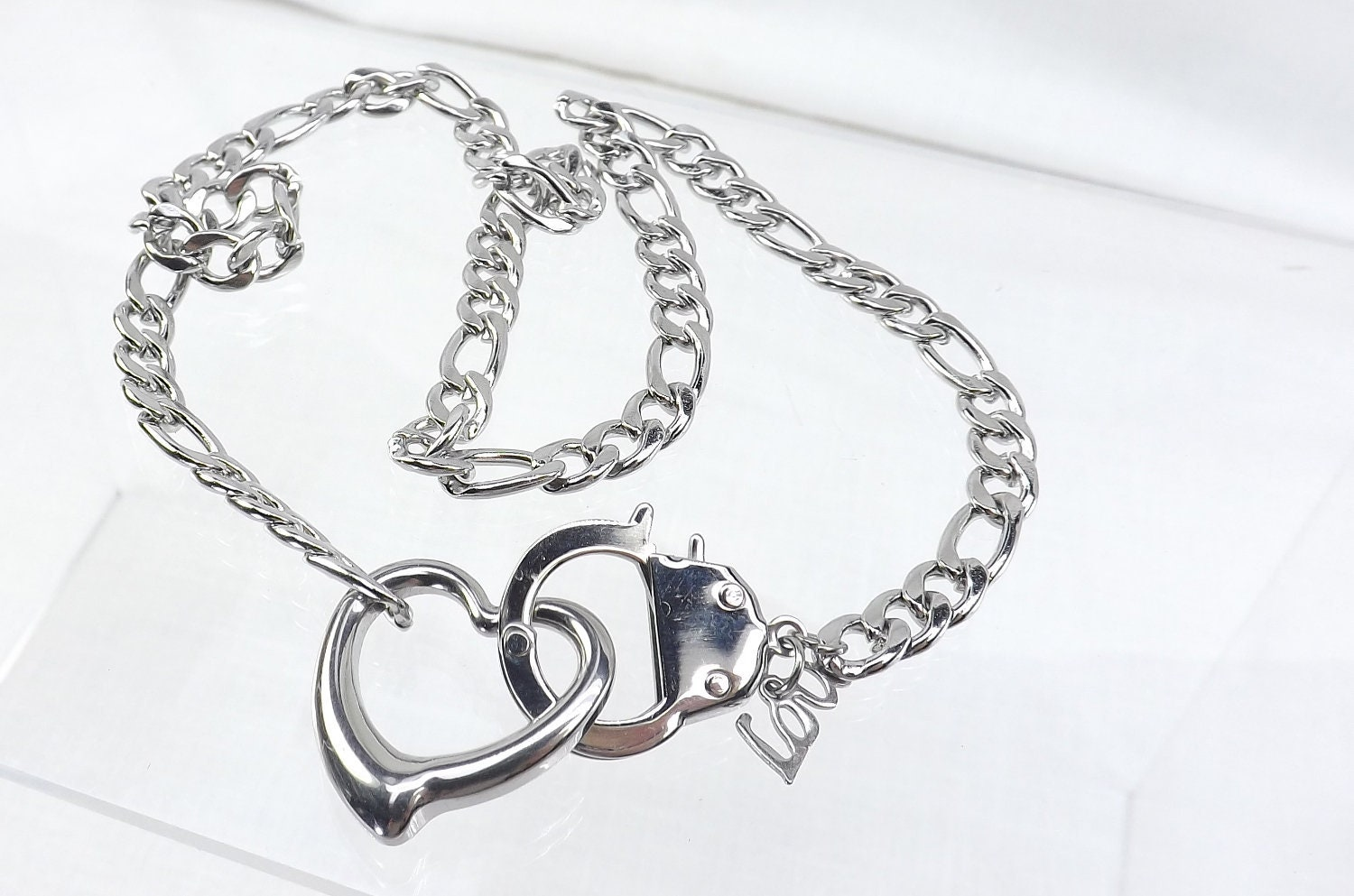 Bdsm,day,collar,stainless,steel,heart,love,slave,chain,and,handcuff,clasp,mature,bdsm,gift,discreet,submissive,jewelry,bdsm day collar,bdsm gift,stainless steel,steel collar,discreet day collar,handcuff collar,heart collar,bondage collar,day chain collar,submissive collar,slave chain collar,bdsm jewelry,submissive jewelry,Stainless steel