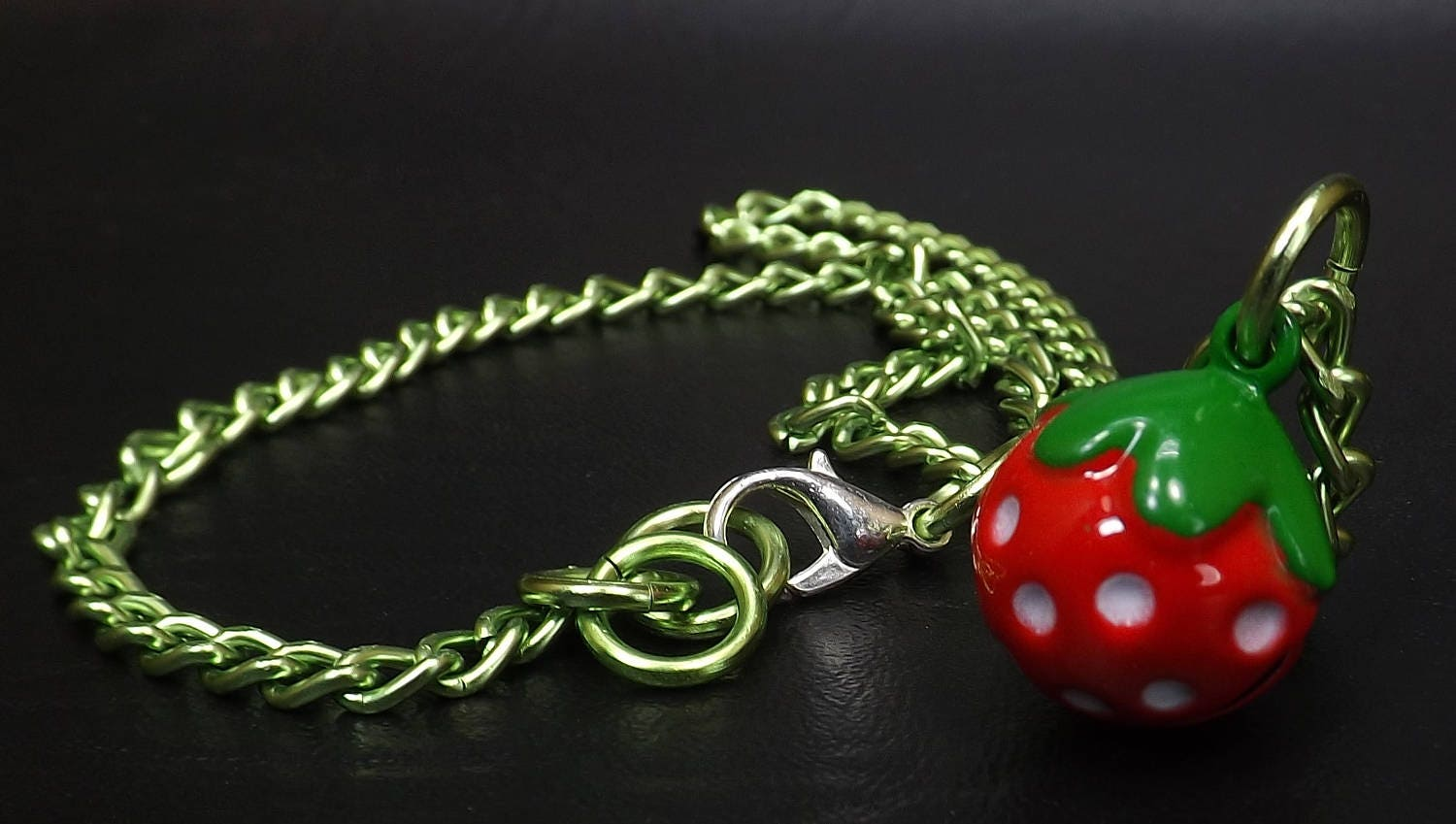 Bell Day collar discreet babygirl bdsm jewelry strawberry bell necklace kitten play jewelry ddlg gift - product image