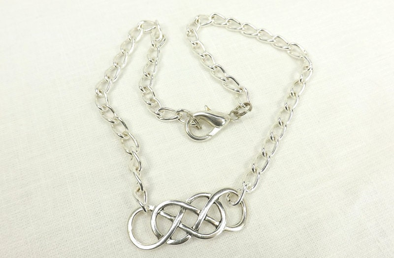 Double Infinity Chain day Collar discreet bdsm day collar day submissive day collar - product images  of