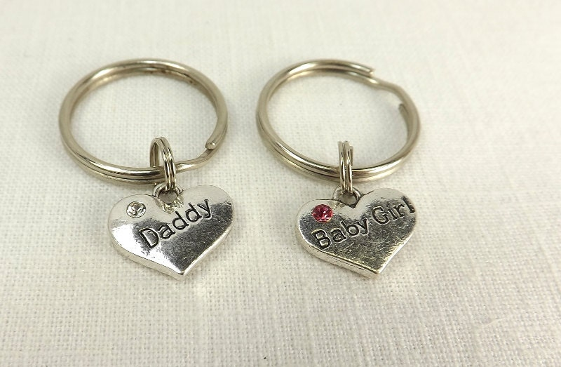 Bdsm Gift Baby Girl Daddy combo keychain Submissive Gift ddlg  babygirl bdsm Sub Dom Heart Key Chains - product images  of