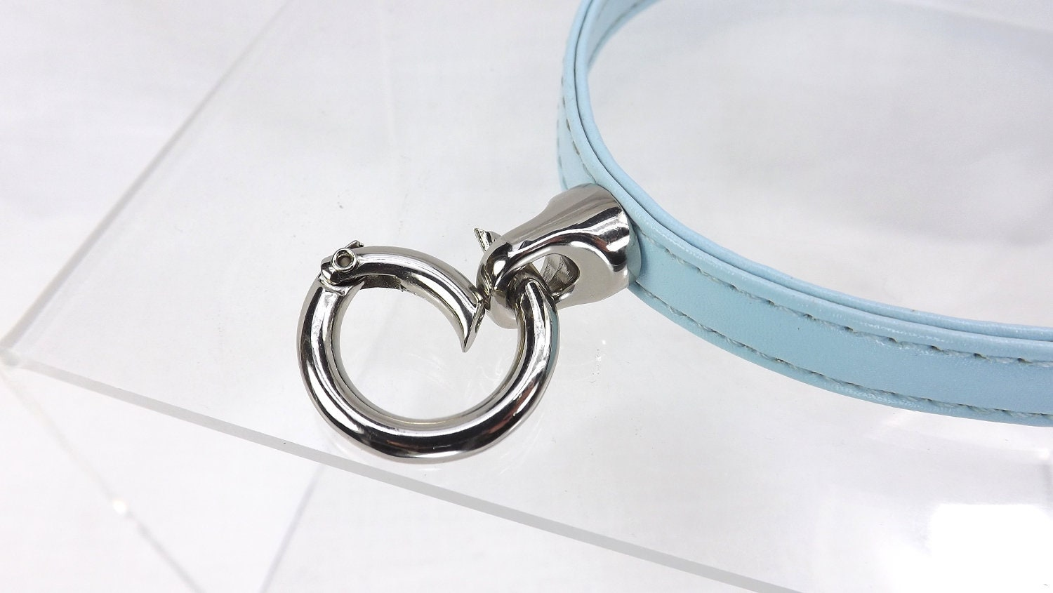 BDSM Day Collar O ring Buckle Collar sub collar slave day collar - product images  of