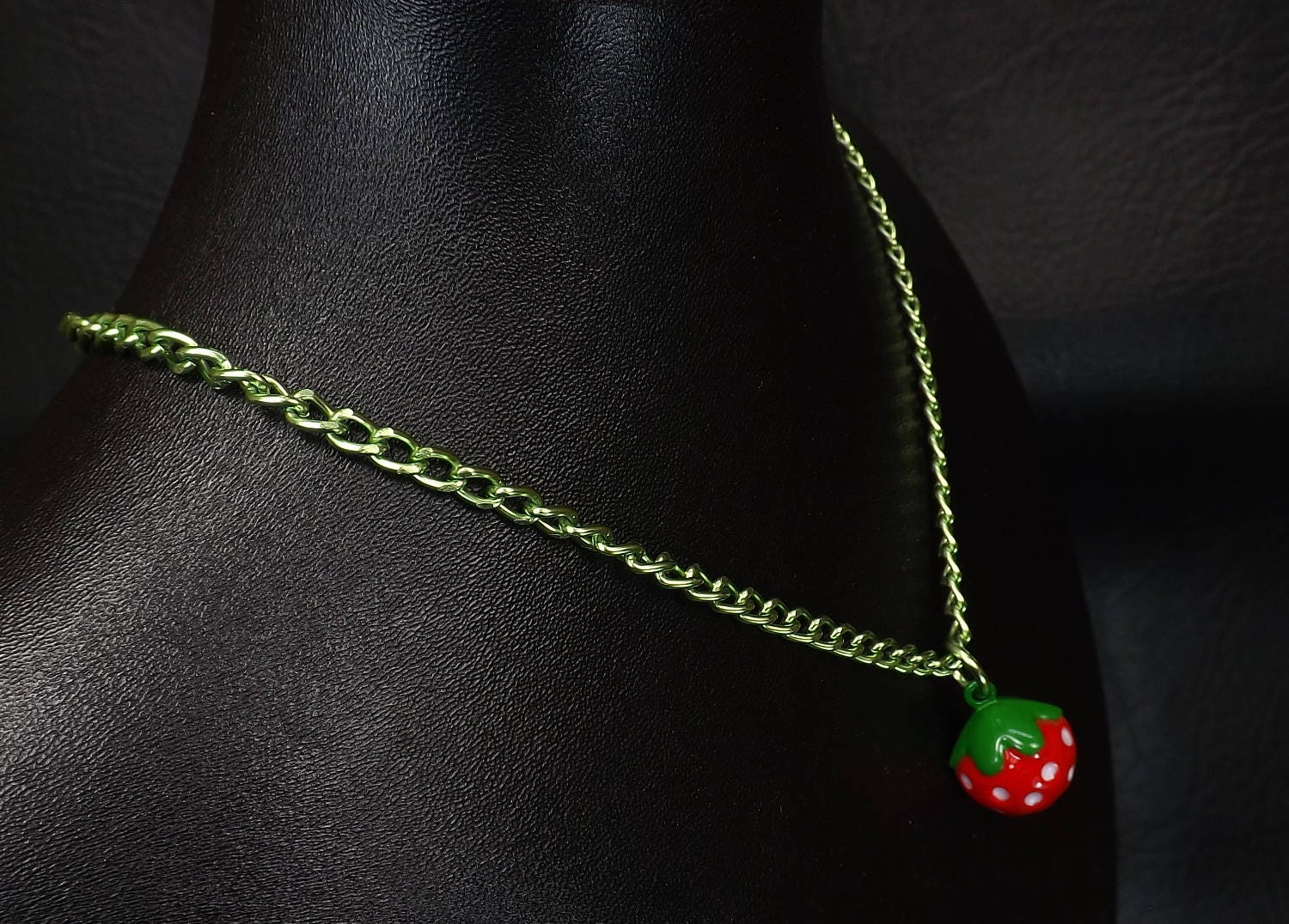 Bell Day collar discreet babygirl bdsm jewelry strawberry bell necklace kitten play jewelry ddlg gift - product images  of