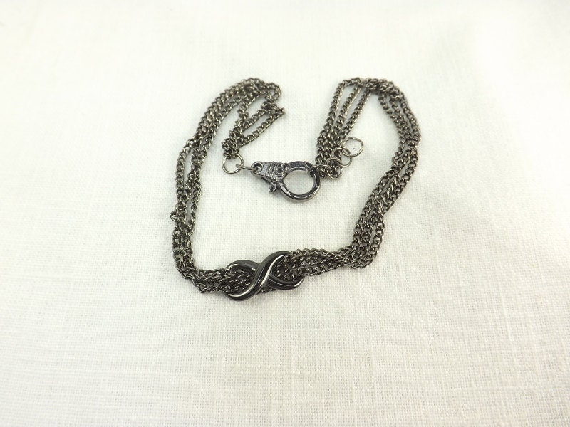Infinity Ankle Bracelet Multi Chain Anklet body jewelry Infinty Anklet bdsm gift - product images  of