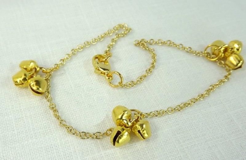 Ankle Bracelet Gold Bells Bdsm Anklet Fetish Foot Worship -4855