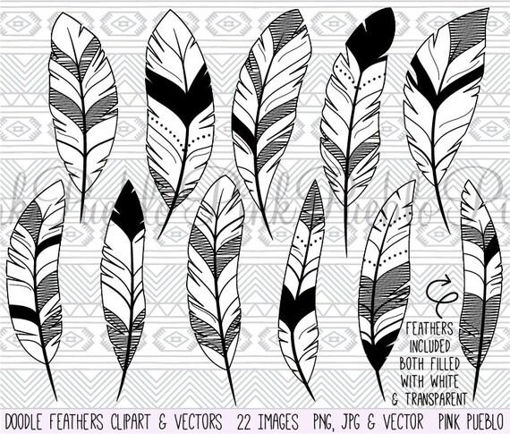 Vecteurs De Doodle Plume Clipart Clip Art Dessins Tribal Plume Clip Art Clipart Vecteurs Commercial Et Personnel