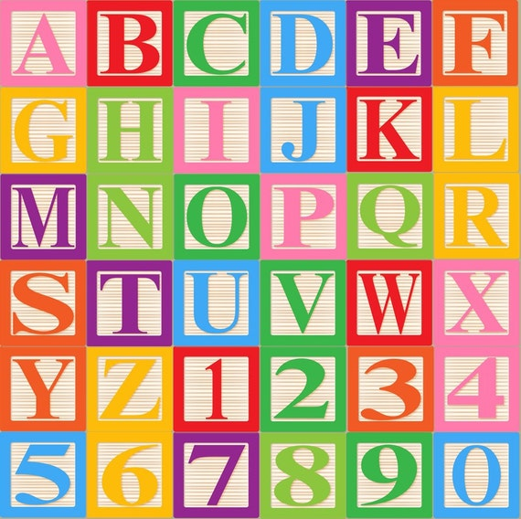 block letters font baby blocks alphabet font clip clipart and 20642 | il 570xN.224750493