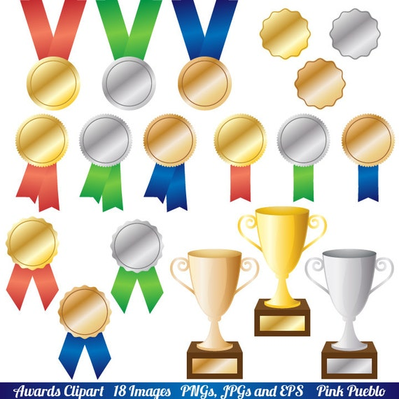 Awards Clipart Clip Art Trophy And Ribbon