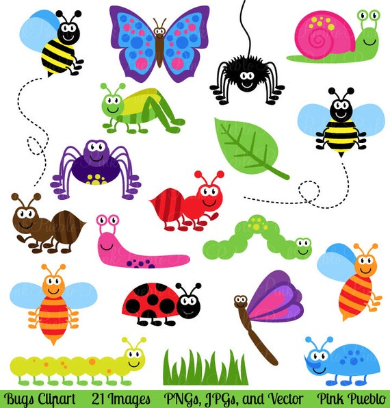 bugs clipart clip art insects clipart clip art vectors etsy rh etsy com bugs clipart free bugs clip art free