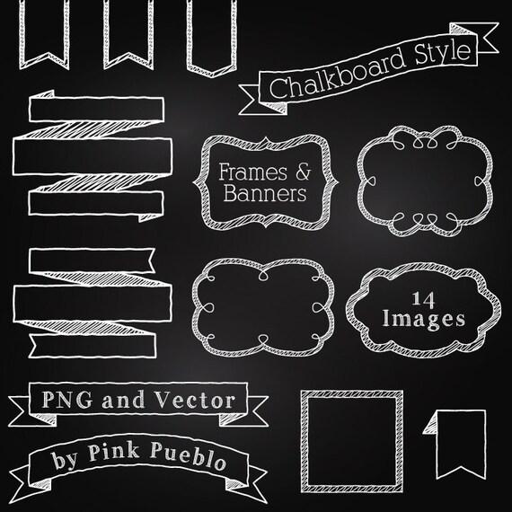 Tafel Rahmen Und Banner Clipart Clipart Tafel Clipart Clipart Etsy