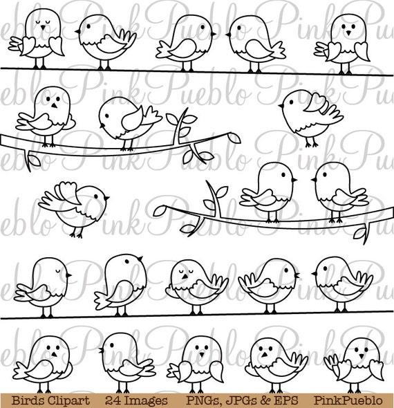 Clipart Vögel Vögel ClipArt Vögel digitale Briefmarken | Etsy