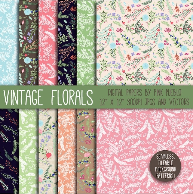 Rustic Vintage Scrapbook Paper Pretty Picturesboss