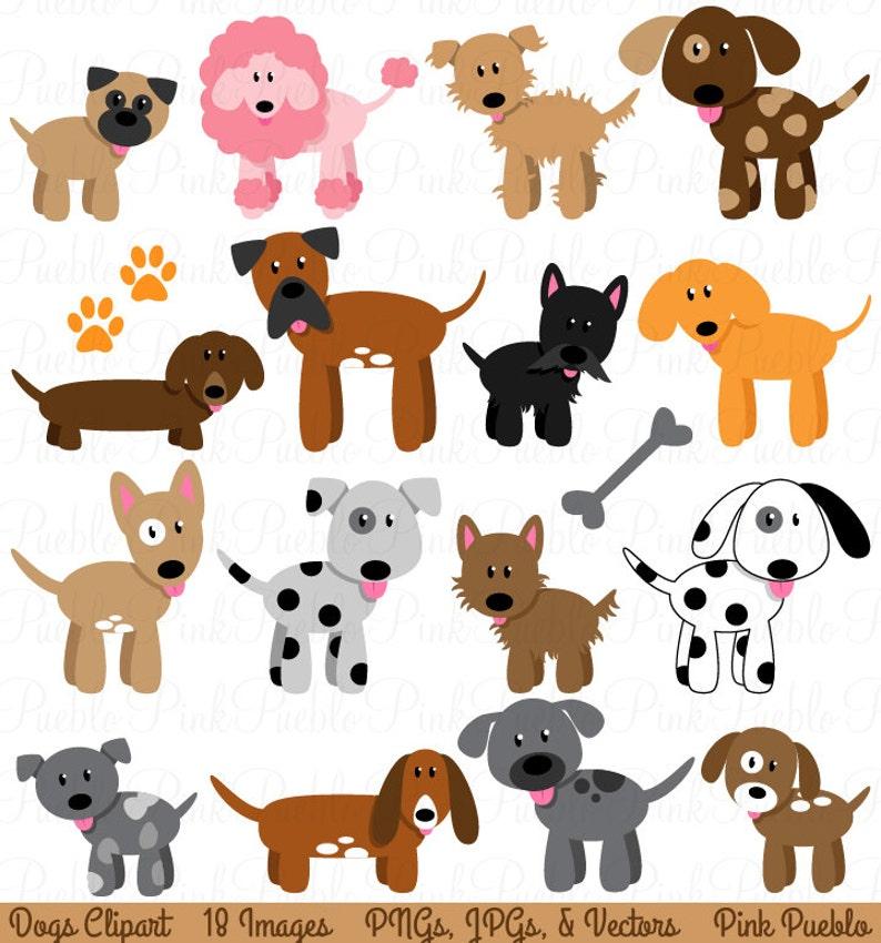 Hund Clipart Clipart Welpen Clipart Clipart Vektoren Kommerziellen Und Persönlichen Gebrauch