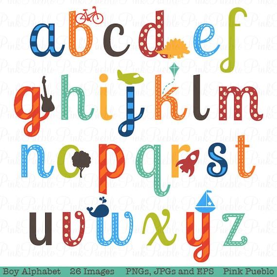 boy alphabet letters scrapbooking alphabet clipart clip art etsy